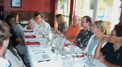 Guests at 15th Street Italian Wine Tasting