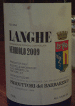 Langhe Wine Label