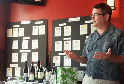 Aroma Boards at 15th Street Italian Wine Tasting