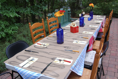Farewell Party Table Setting