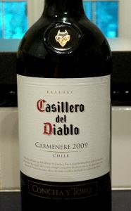 Casillero del Diablo Carmenere 2009 Label