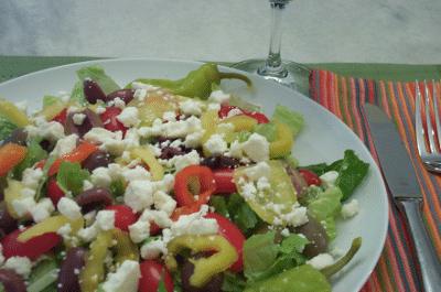Greek Salad with Fresh Herb Vinaigrette
