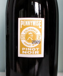 Pennywise Pinot Noir 2009 Wine Label