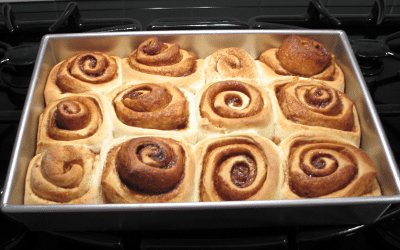 Cinnamon Rolls Out of Oven