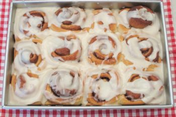 Homemade Cinnamon Rolls with Vanilla Icing | Magnolia Days