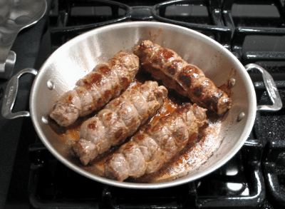 Rouladen Cooking in pan