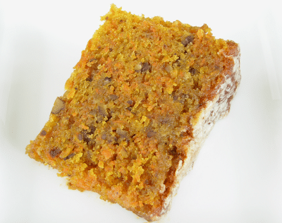 Glazed Carrot Cake Slice