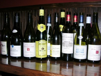 Wines featured in 15th Street Pizza French Wine Tasting