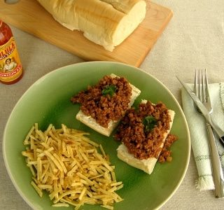 Open-faced Picadillo Sandwich