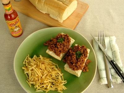 Open-faced Picadillo Sandwich