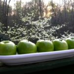 Green Granny Smith Apples in a dish