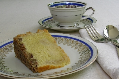 A slice of rum cake