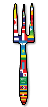 International Fork representing Celebrating Family Heritage for Sunday Supper