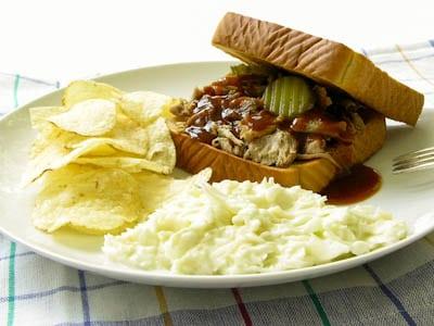 Crockpot Pork Barbeque Sandwich
