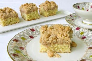 Old-fashioned crumb cake or coffeecake