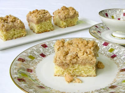 Old-fashioned crumb cake or coffeecake