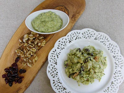 Turkey Salad with Pesto-Mayo