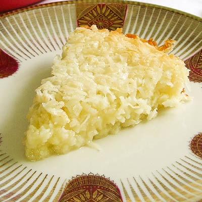 Self-Crust Coconut Pie Slice