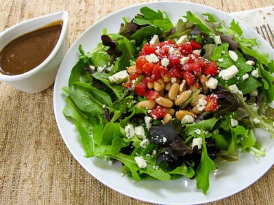 White Bean Balsamic Tomato Salad