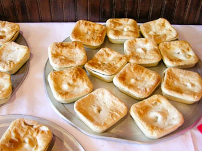 Australian Meat Pies served at 15th Street wine tasting event