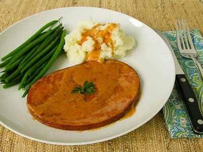 Ham Steaks with Madeira Cream Sauce Recipe Photo
