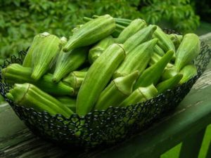 Okra In A Basket
