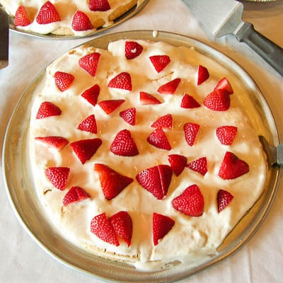 Pavlova served at 15th Street Pizza Australian Wine Tasting Event