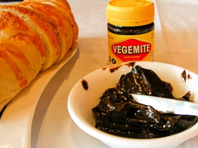 Vegemite and Bread served at 15th Street Pizza Australian Wine Tasting Event