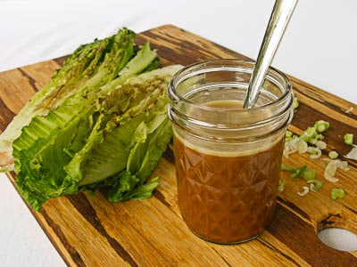 Asian Dressing With Grilled Romaine Lettuce