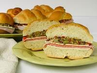 Individual Muffuletta (aka Muffaletta) Sandwiches