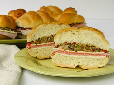 Individual Muffuletta Sandwiches for #SundaySupper