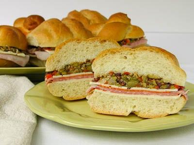 Individual Muffuletta (Muffaletta) Sandwiches