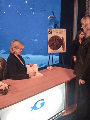 Me and Martha Stewart at her book signing