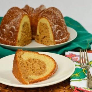 Cinnamon Crown Bundt Cake for #BundtAMonth