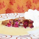 Cranberry Pudding With Vanilla Sauce