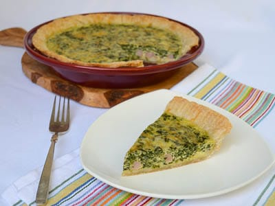 Ham and Spinach Quiche