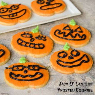 Jack O Lantern Cookies for #Halloween Trick-Or-Treat #SundaySupper