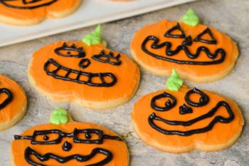 Jack O' Lantern Frosted Cookies | Magnolia Days