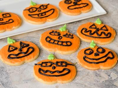 Jack O Lantern Halloween Cookies