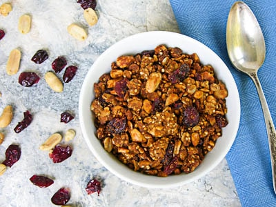 Peanut Butter and Quinoa Granola