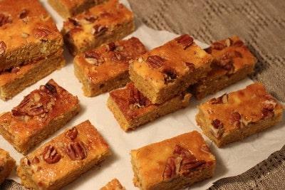 Pumpkin Pecan Sheet Cake