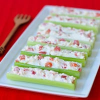 Cream Cheese and Pimento Stuffed Celery