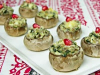 Stuffed Mushrooms With Spinach and Feta