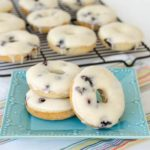 Baked and Glazed Blueberry Donuts