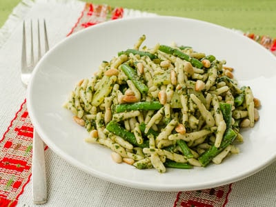 Trofie Pasta With Pesto, Potatoes, and Green Beans