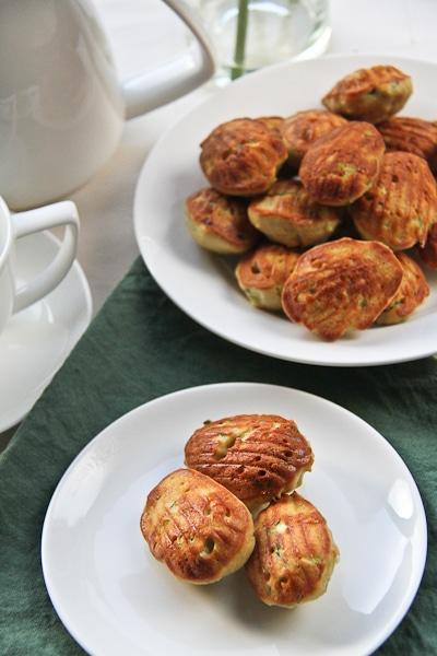 Zucchini and Gruyere Madeleines