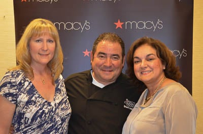 Renee (me), Emeril Lagasse, and Isabel (Family Foodie)