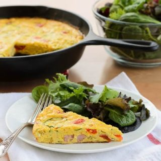 Ham and Vegetable Frittata for #SundaySupper #SauteExpress