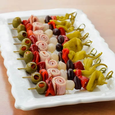 Muffuletta Skewers for #SuperBowl #SundaySupper