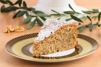 Walnut Olive Oil Cake Slice | Magnolia Days